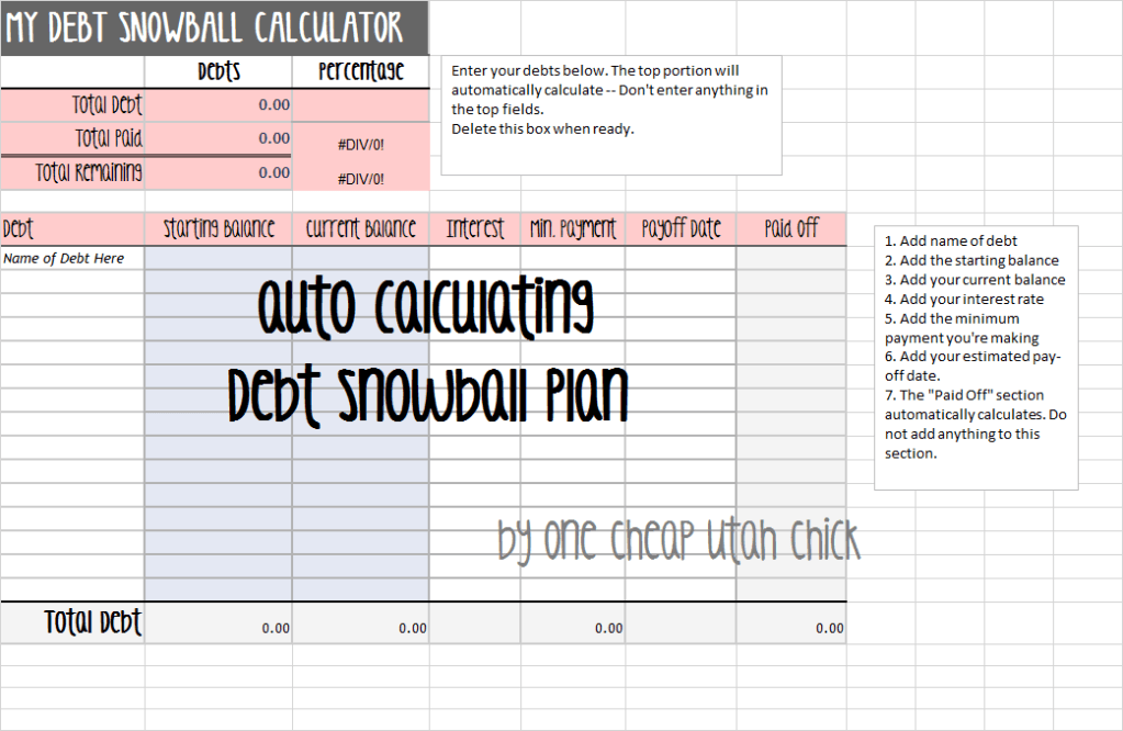 debt snowball excel spreadsheet | money matters | Pinterest ...