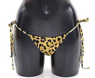 Yellow Leopard String Bikini Bottom