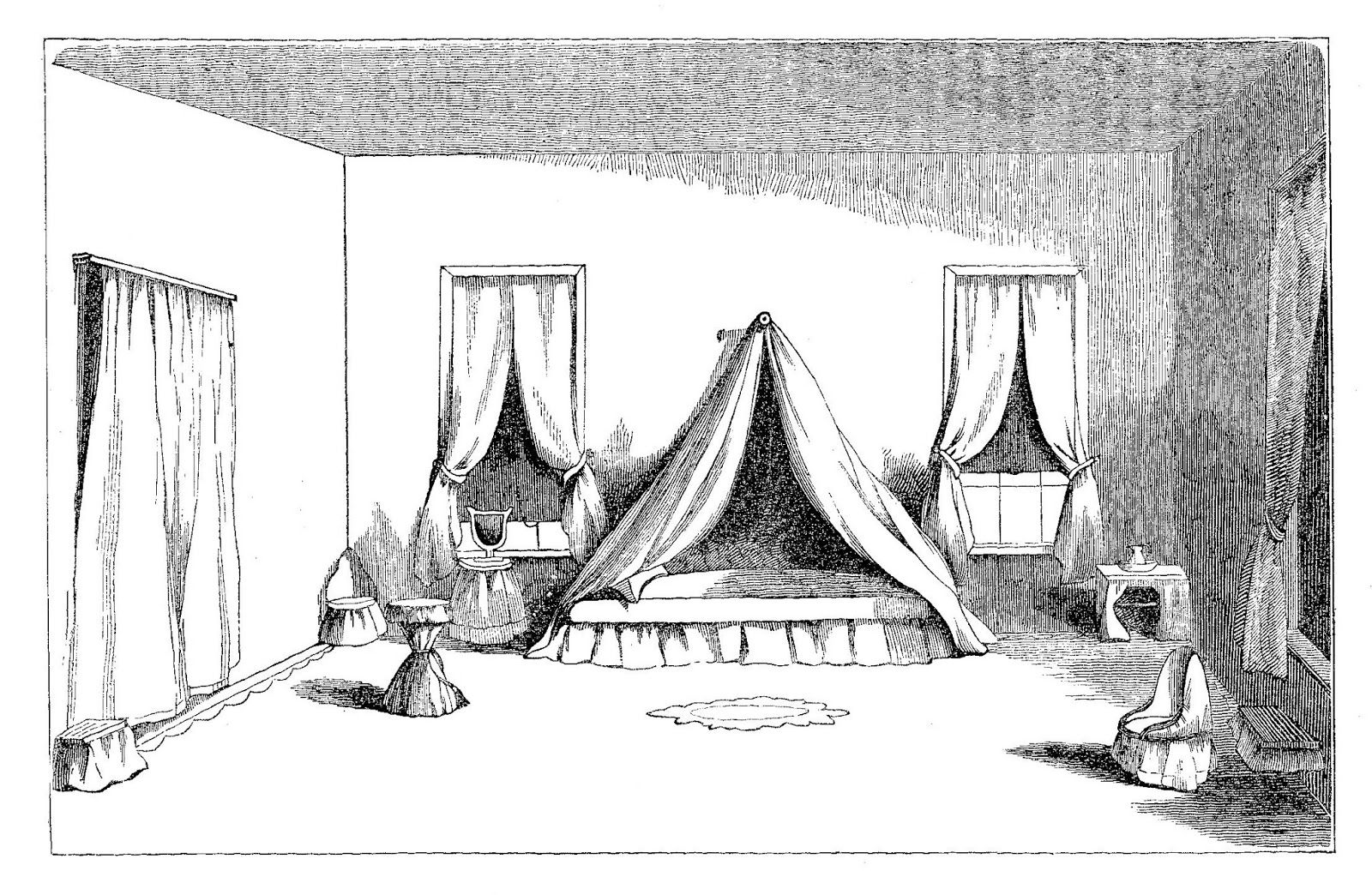 Antique 1859 Victorian Room.