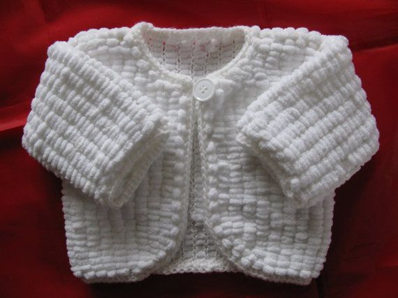 Knitting Jacket For Girl : Baby girl s one button jacket cardigan in white mini marshmallow