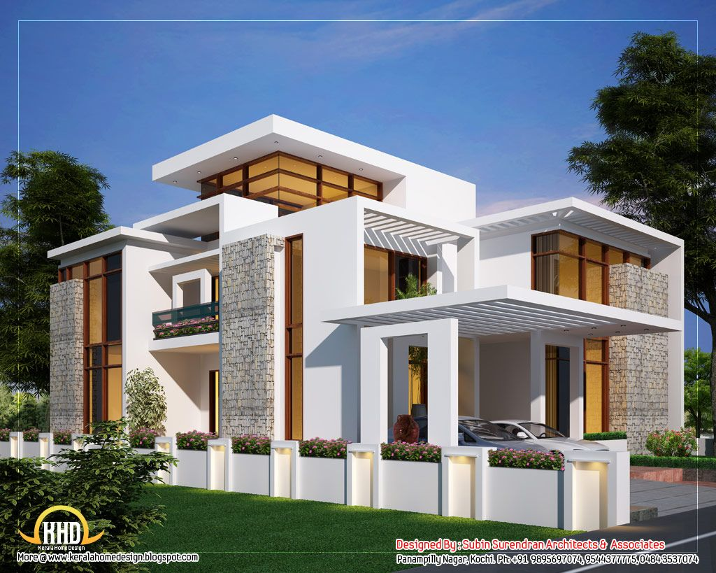 Awesome dream homes plans kerala home design floor plans for Contemporary home plans