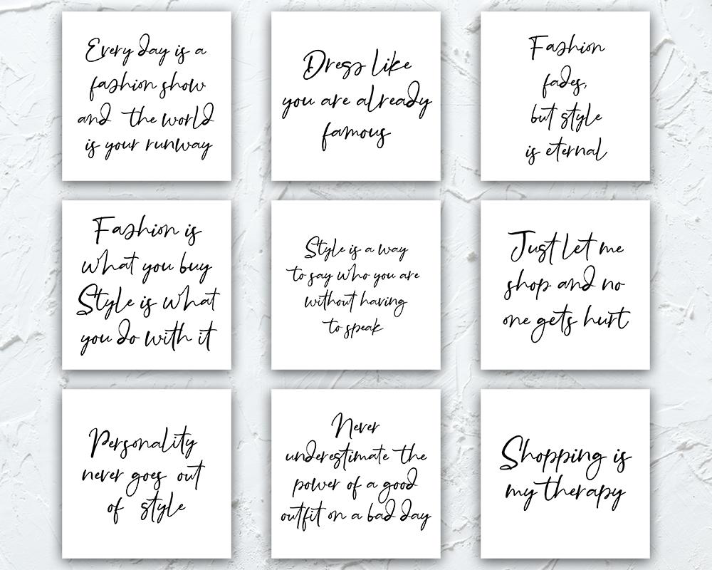 Fashion Instagram Quotes, Graphics Instagram Branding