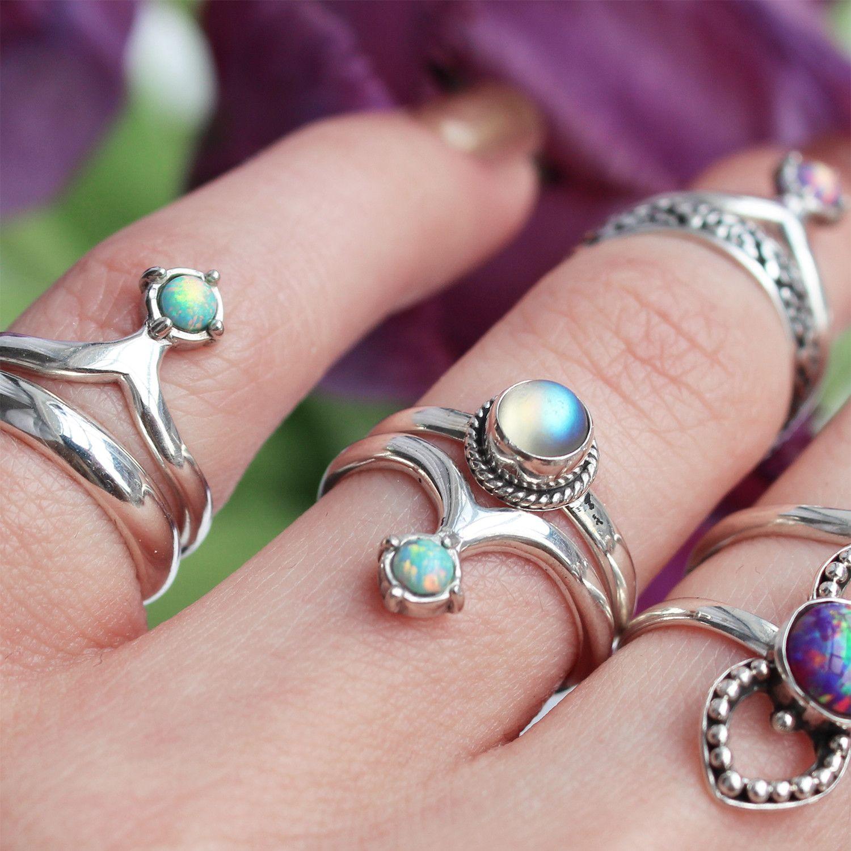 Armana Blue Opal Midi Ring | Purple, Shops and Mermaids