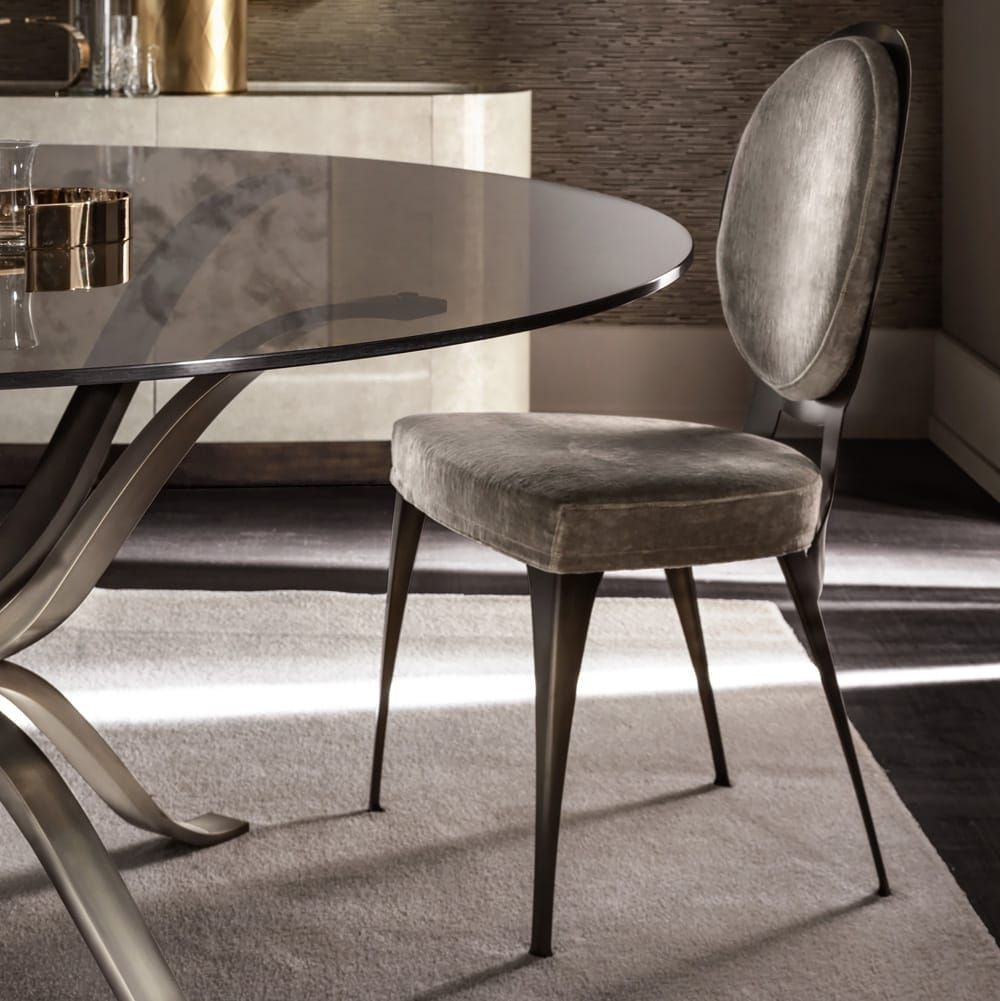 126 Custom Luxury Dining Room Interior Designs: Contemporary Italian Designer Upholstered Chair