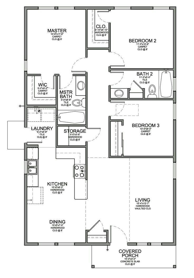 A Frame Eliminate 3rd Bedroom Make 2 Masters Open Storage Room Into Laundry For Pantry Loft Floor Plans Ranch House Plans 3 Bedroom Floor Plans
