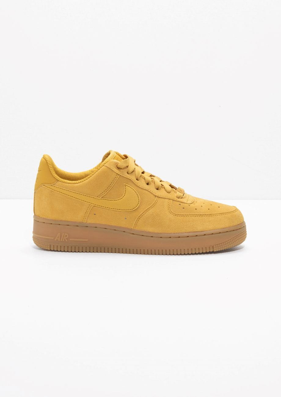 promo code 14341 7e3d0 Other Stories image 1 of Nike Air Force 1  07 in Mustard