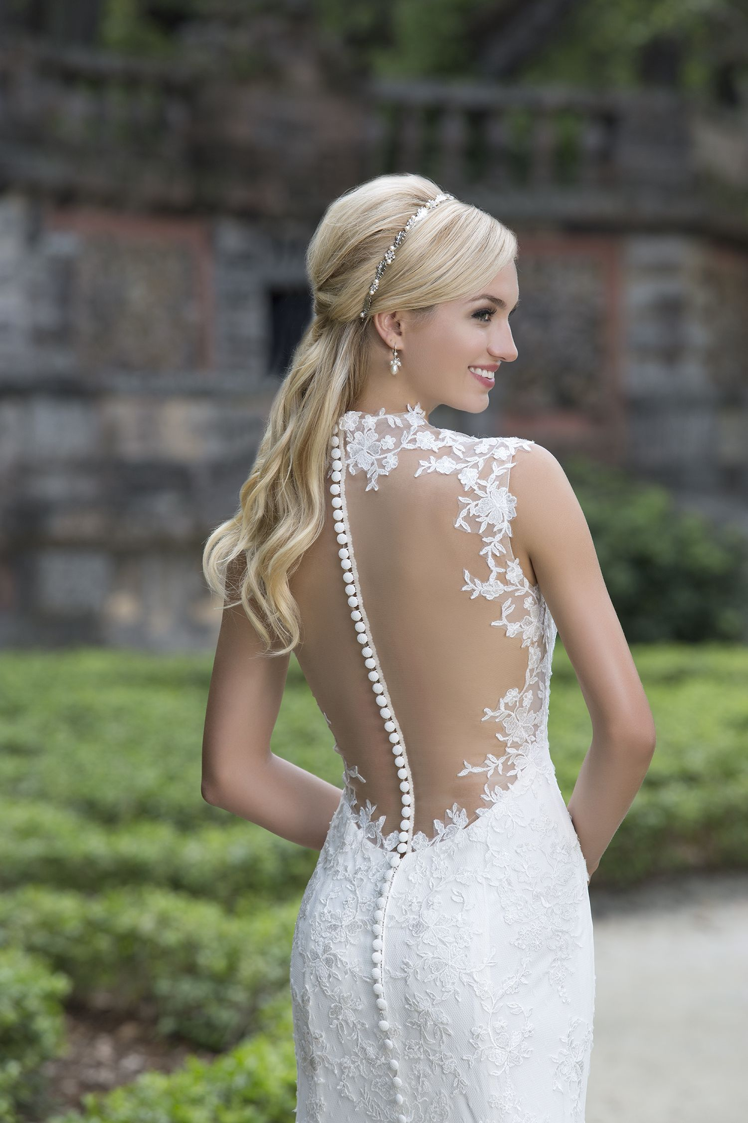 sinceritybridal dreamy illusion back wedding gown with tiny buttons ...
