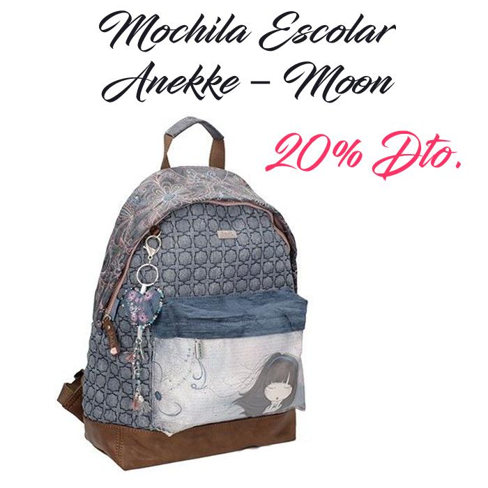 """Consigue la Mochila Escolar Anekke """"Moon"""", con compartimento principal con cierre de cremallera, un bolsillo delantero para llevar tus cosas más importantes a mano y un asa corta para llevarla en la mano. ¡¡Ahora por tan solo 39,12€!! @sueshop_es #anekke #mochila #escolar #cole #vueltaalcole #papeleria #oferta #rebajas #descuento #sueshop"""