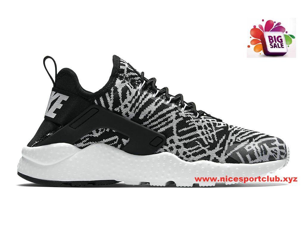 pretty nice 8d9db 218ab Nike Air Huarache Run Ultra Jacquard Femme Pas Cher Noir Blanc 818061 001 Nike  Air Huarache Retro