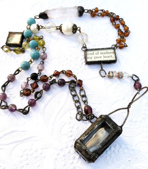 Rosary Reliquary Necklace Tooth Shrine One Of A Kind by Mystarrrs