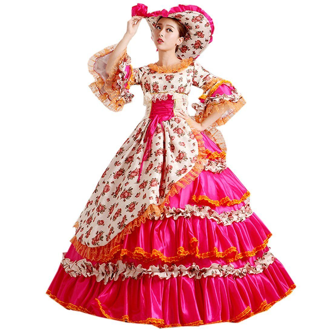 Partiss Women\'s Prom Gothic Victorian Fancy Palace Masquerade Lolita ...