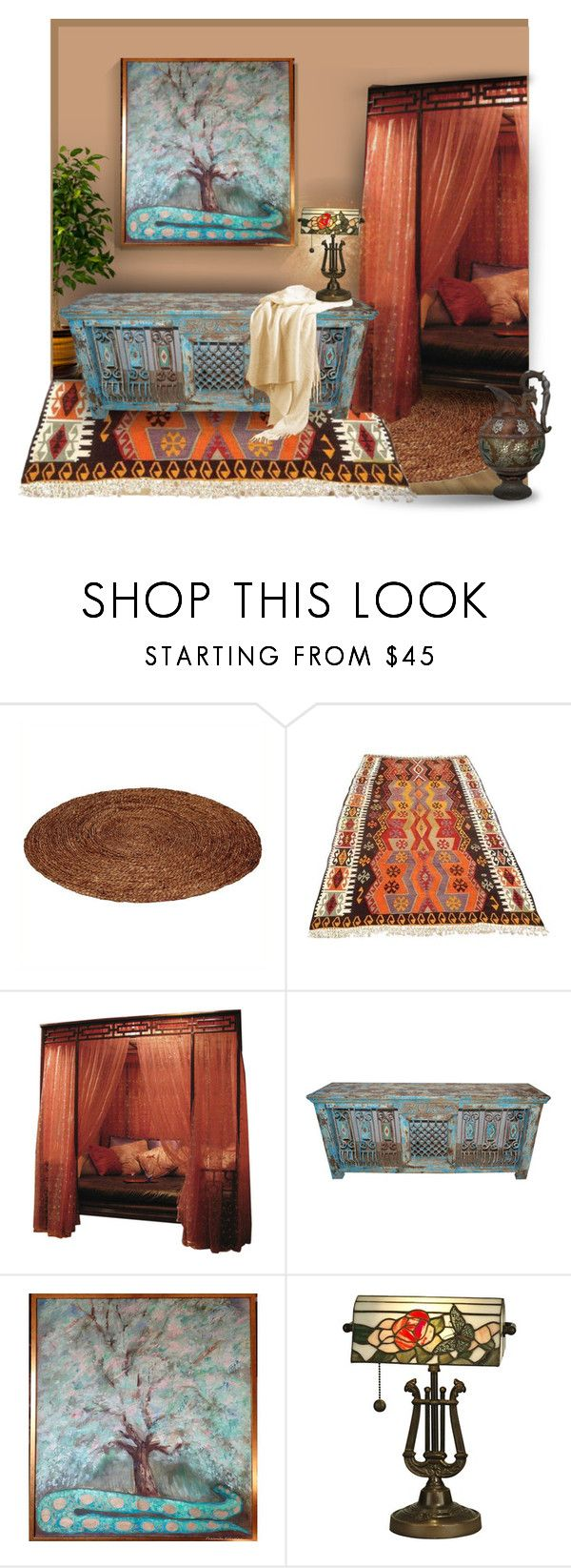 """""""Scent of the Orient"""" by canisartstudio ❤ liked on Polyvore featuring interior, interiors, interior design, home, home decor, interior decorating and Dale Tiffany"""