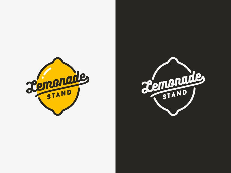 Lemonade stand logos change and plays for Logo design uk