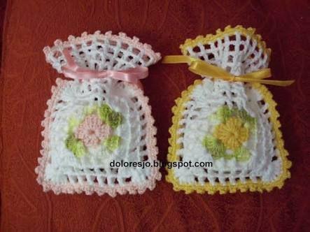 Image result for sachê para sabonete em crochê | Tejidos | Pinterest ...