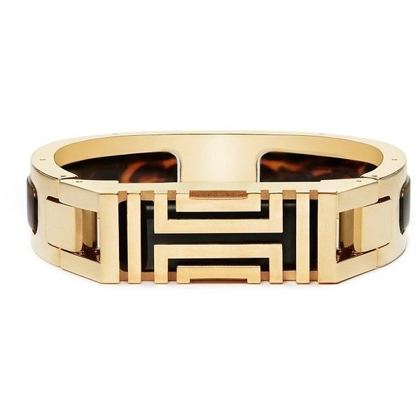 96bbe0fb4ff Tory Burch Tory Burch For Fitbit Resin-Inlay Hinged Bracelet ( 195) ❤ liked  on Polyvore featuring jewelry
