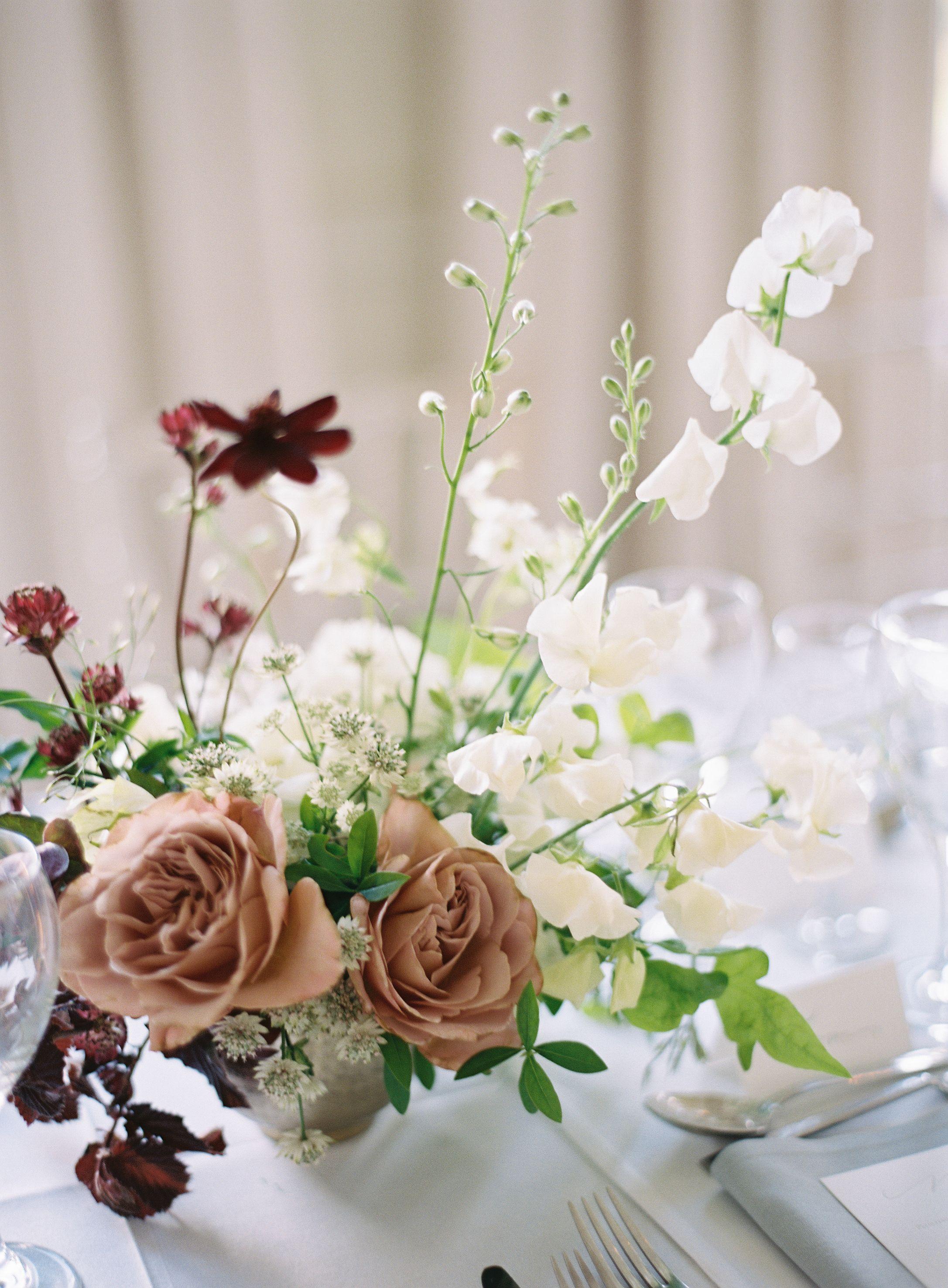 English wedding decoration ideas  An English Estate Wedding Anchored In Minimalist Design  Flowers