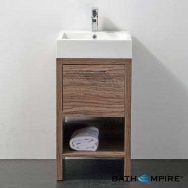 Wooden Bathroom Delamere Light Walnut 450mm Cloakroom Basin Unit   Floor  Standing. Wooden Bathroom Delamere Light Walnut 450mm Cloakroom Basin Unit