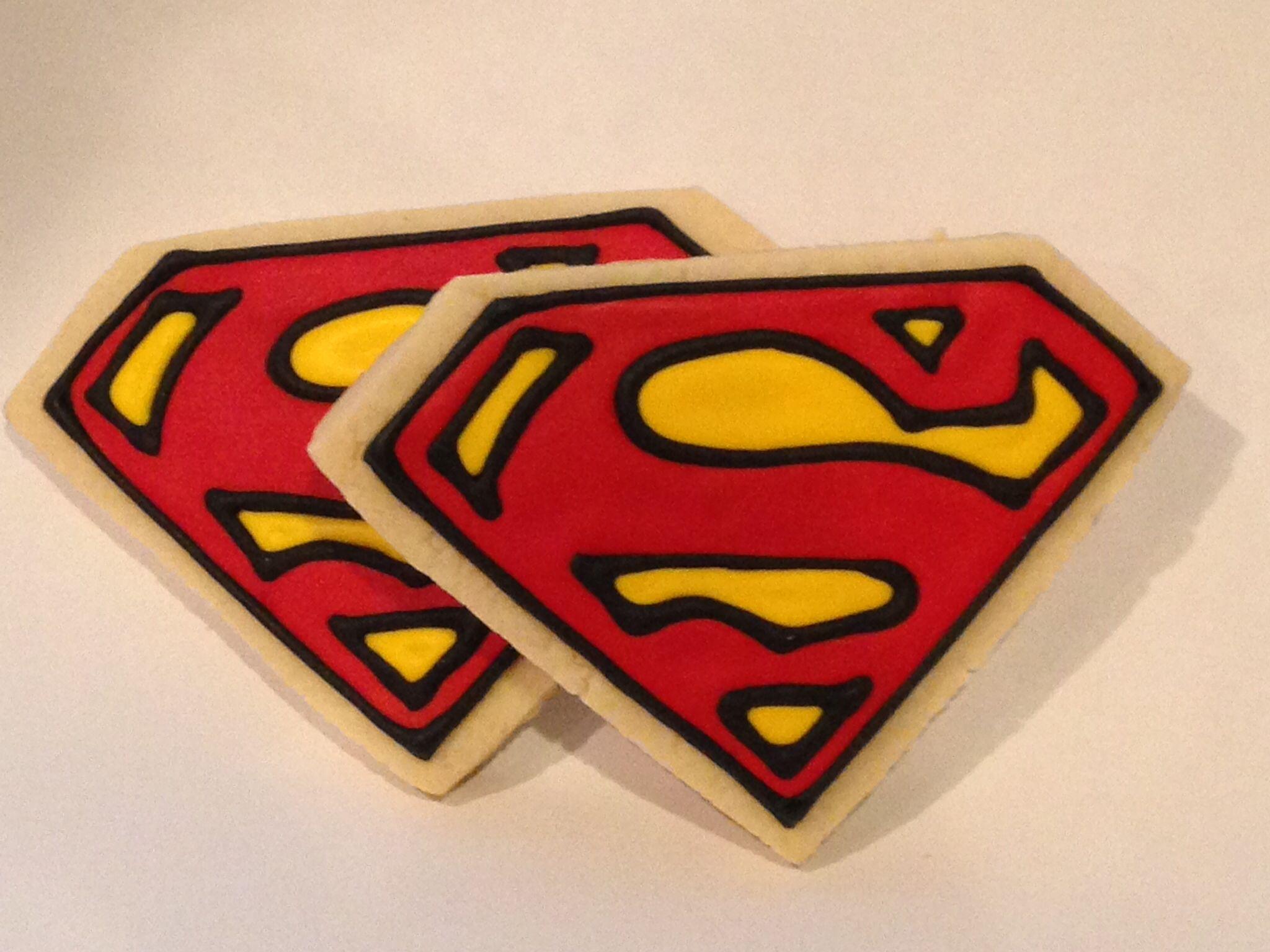 Superman cookies!