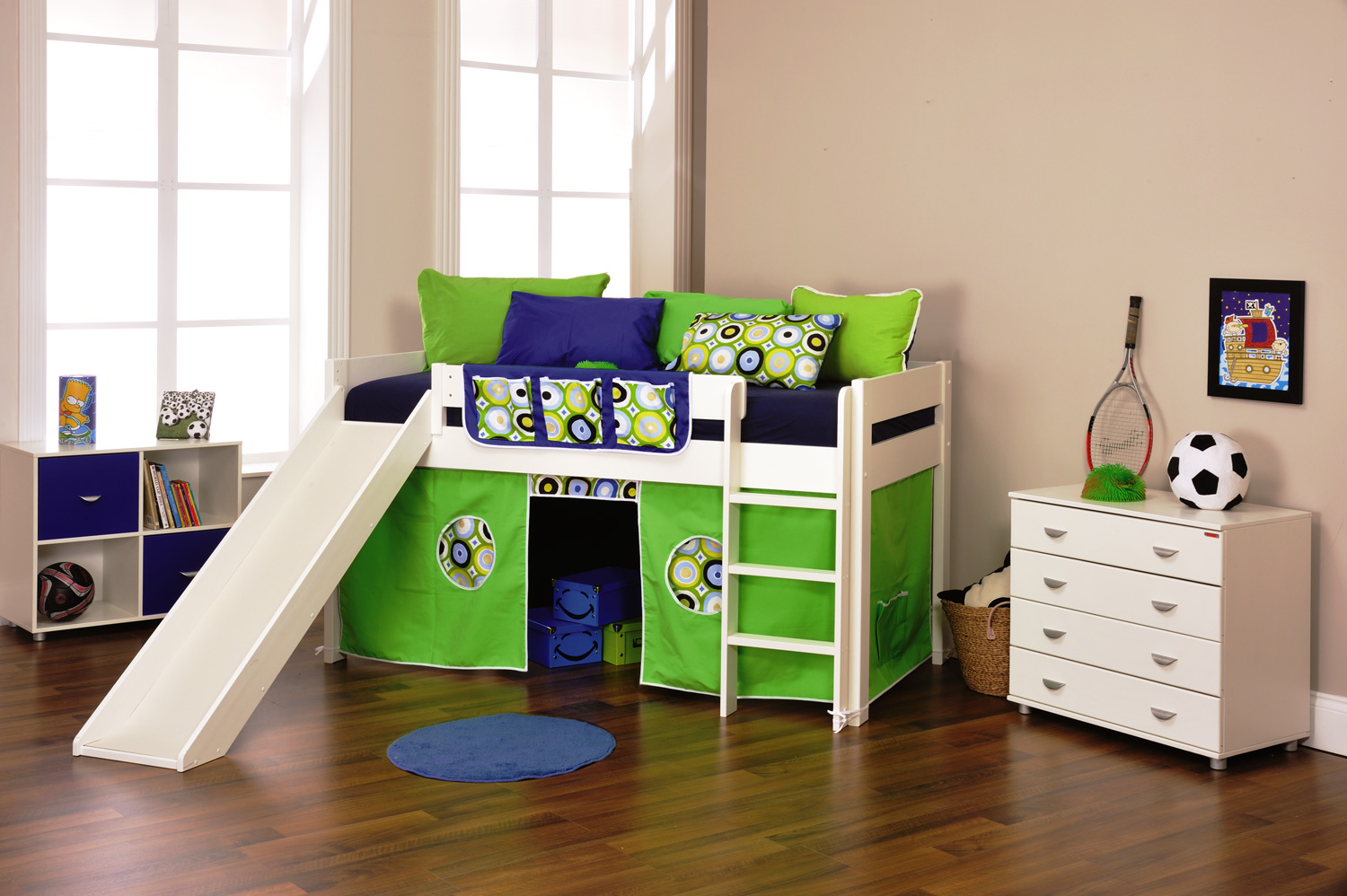 Stompa Play 3   Cabin Bed with Play Tent and Slide ...