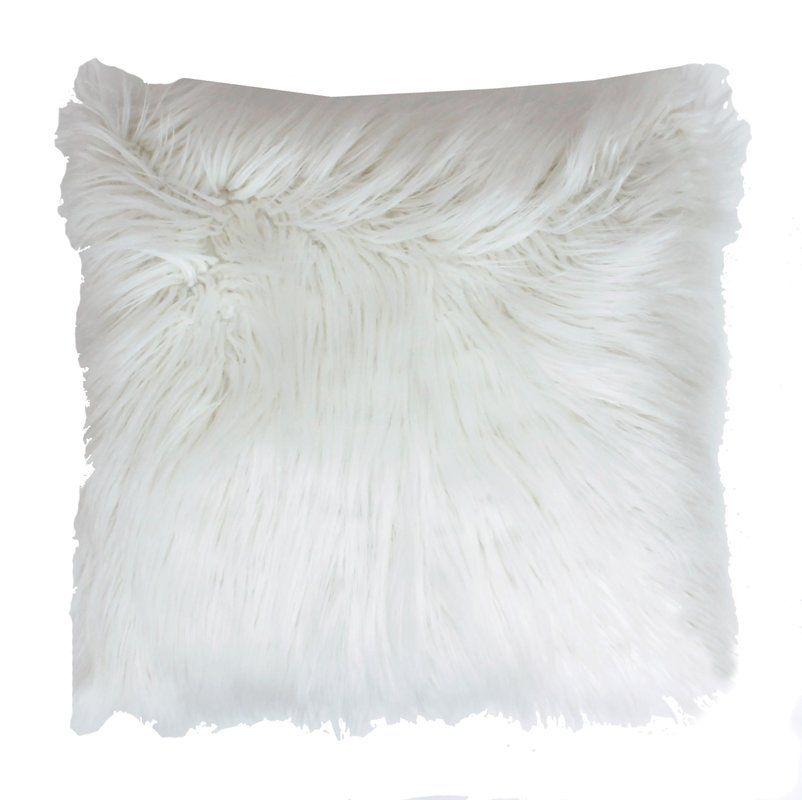 Alanna Throw Pillow In 2019 Fur Throw Pillows Oversized
