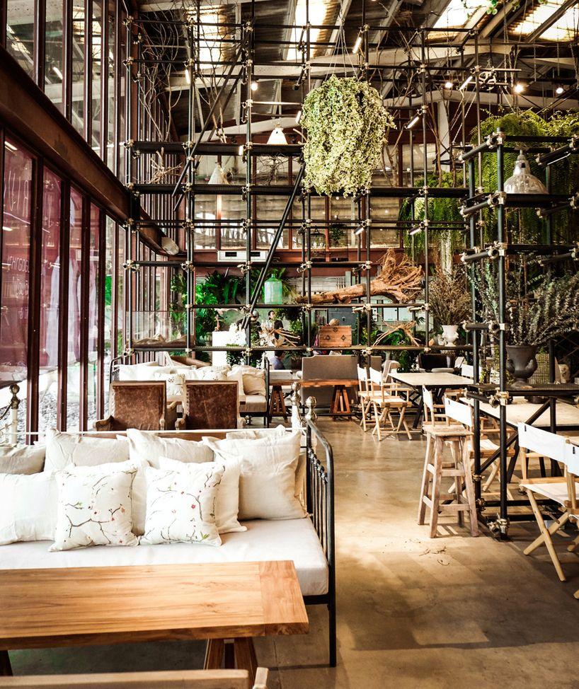 Kitchen Design Bangkok: Hypothesis Converts Tractor Warehouse Into Restaurant