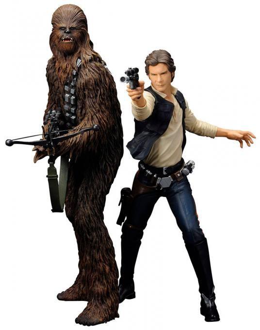 Pack 2 Estatuas Han Solo & Chewbacca 18 cm. ARTFX+. Star Wars. Kotobukiya