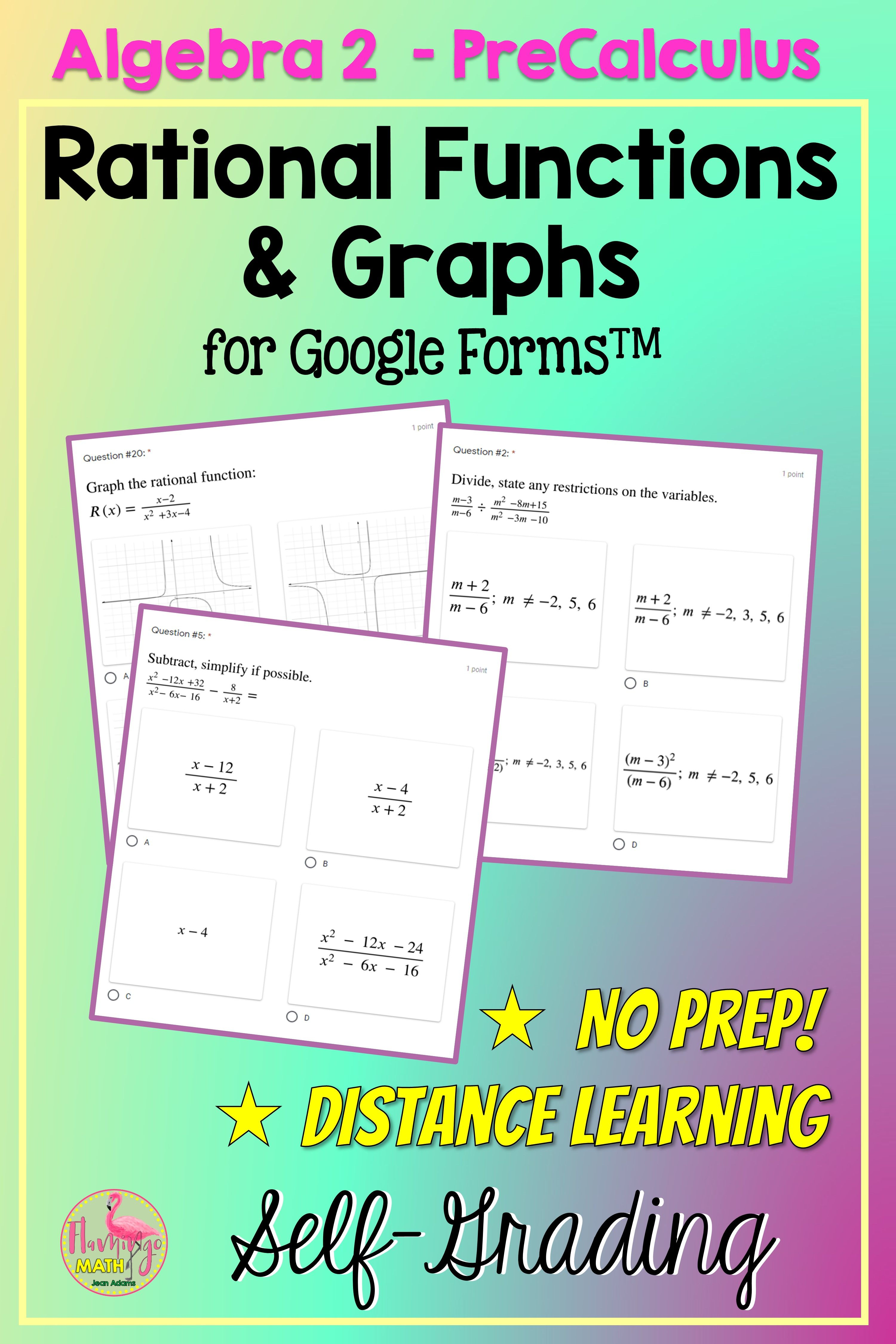Rational Functions And Graphs For Forms