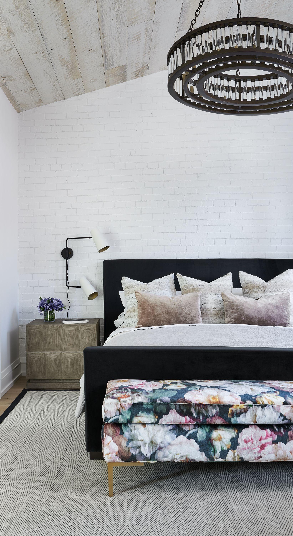 Menin Ali Budd Interiors Black Bed Frame Black Upholstered Bed White Upholstered Bed