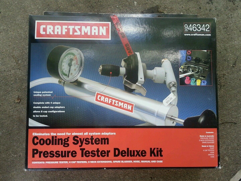 Craftsman Cooling System Pressure Tester Deluxe Kit Nos New