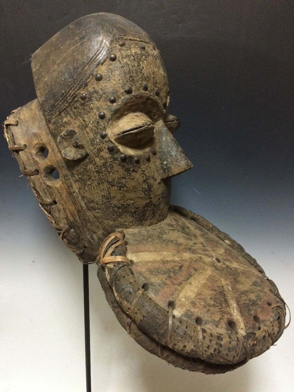 Dan Guere Mask African Art Mask with Metal Stand | eBay