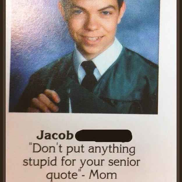 Funny Yearbook Quotes For Graduating Seniors: Funny Yearbook Quotes