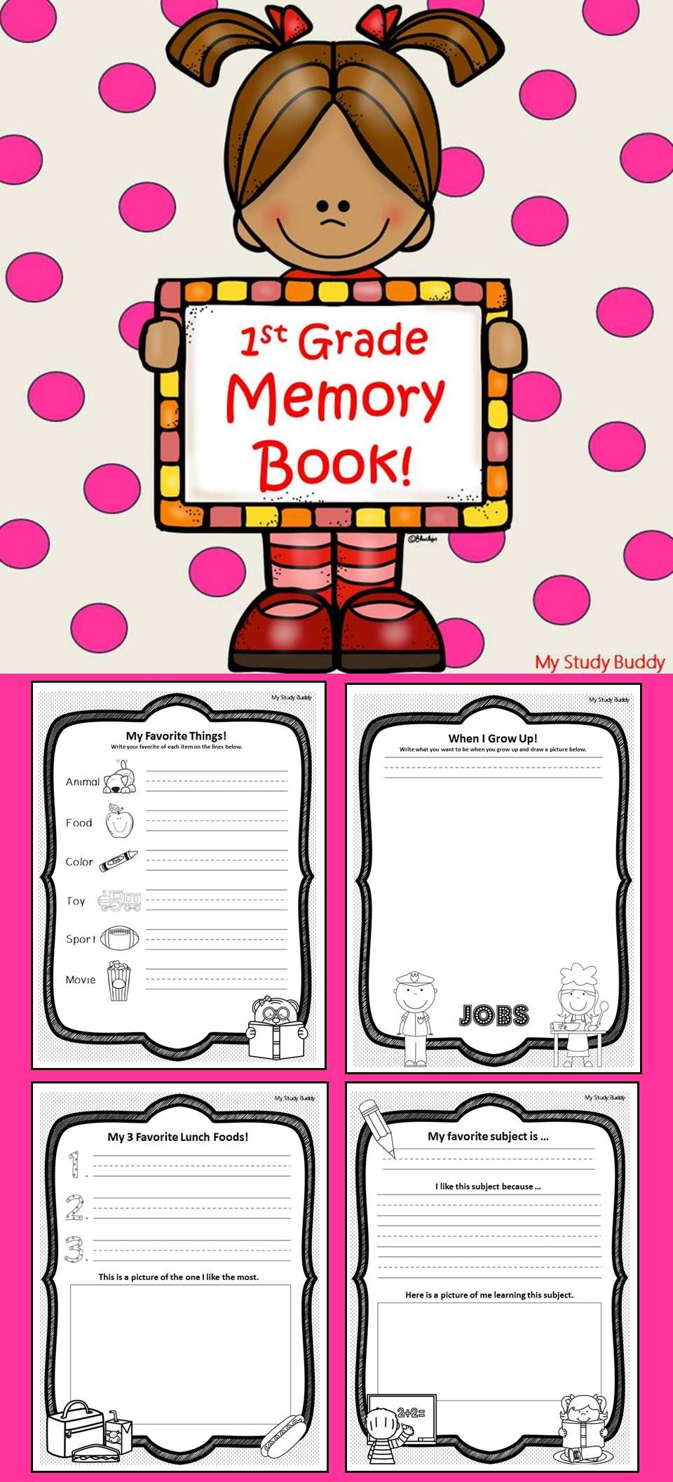 First Grade Memory Book - End of the Year Activities