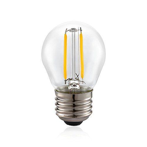 Voness G46 2w LED VintageFilament Light Bulb [Classic Edison Bulb 25W Incandescent Replacement][120V AC E26 Medium Base][Non-dimmable][Clear Soft White 2700K] VONESS http://www.amazon.com/dp/B017TYQ7JM/ref=cm_sw_r_pi_dp_JVnHwb0VNR65T