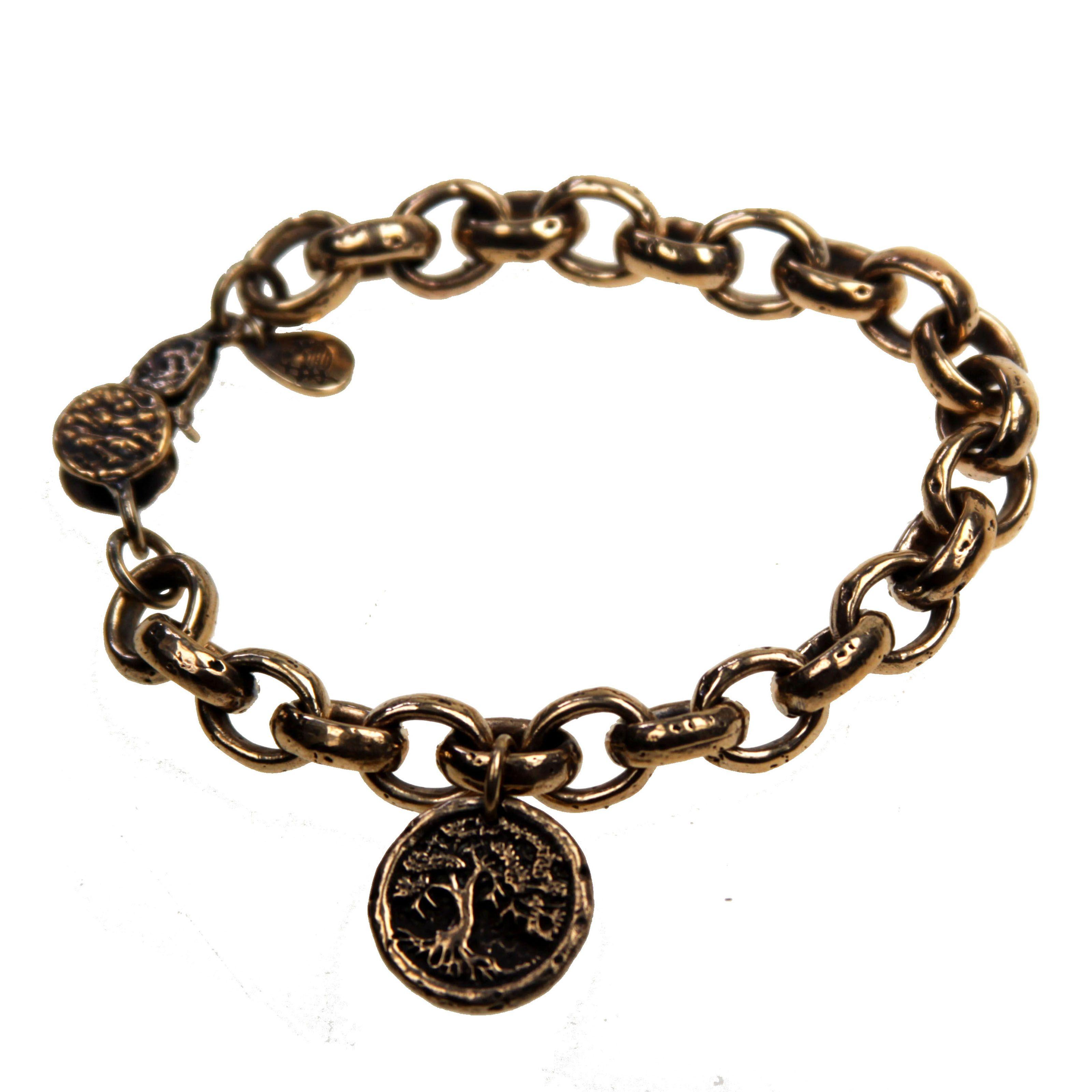 House of Alaia Tree of Life Filigree Bangle Bracelet In Bronze XT3eepA