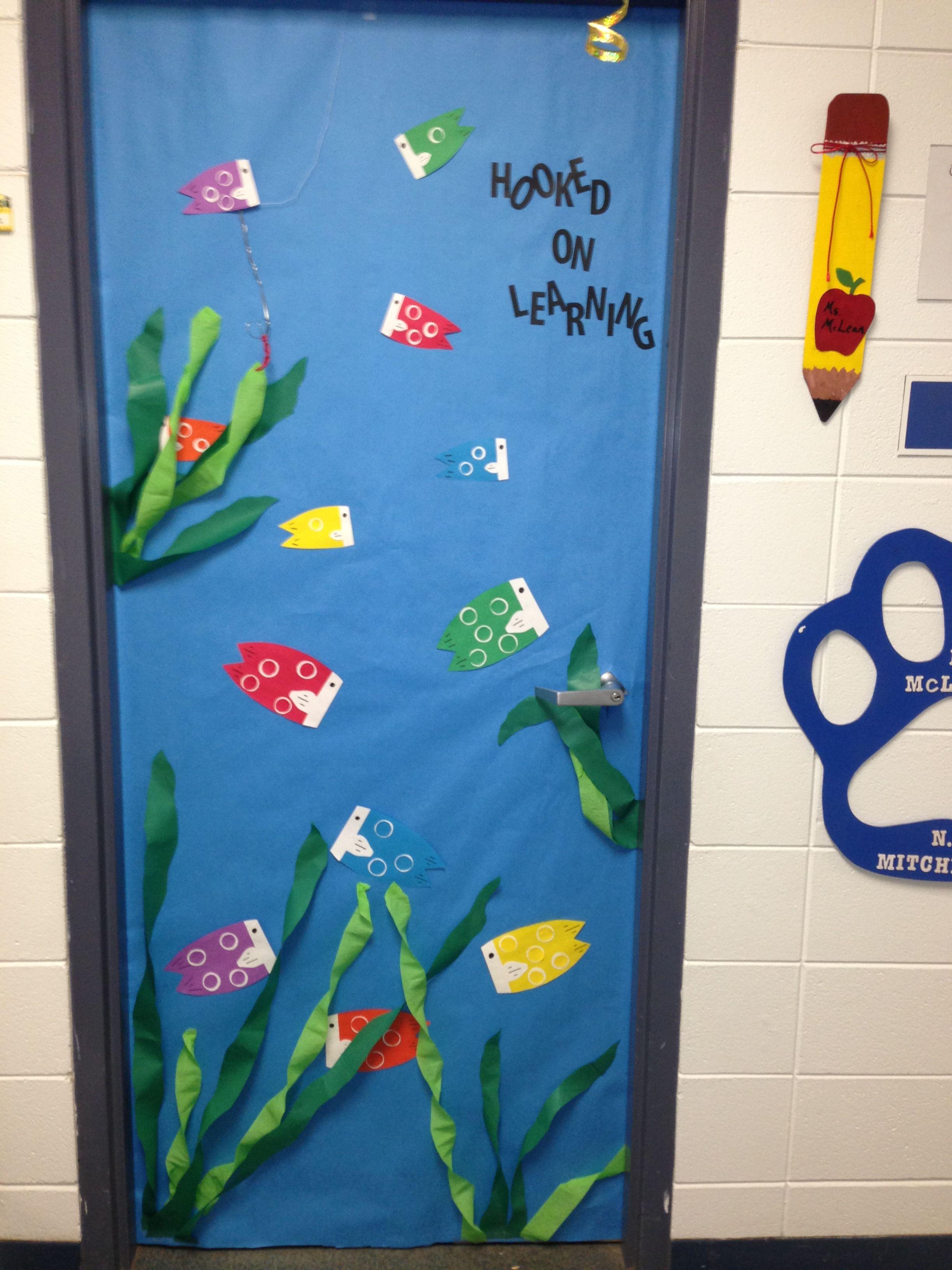 Fish Ocean Theme Classroom Door