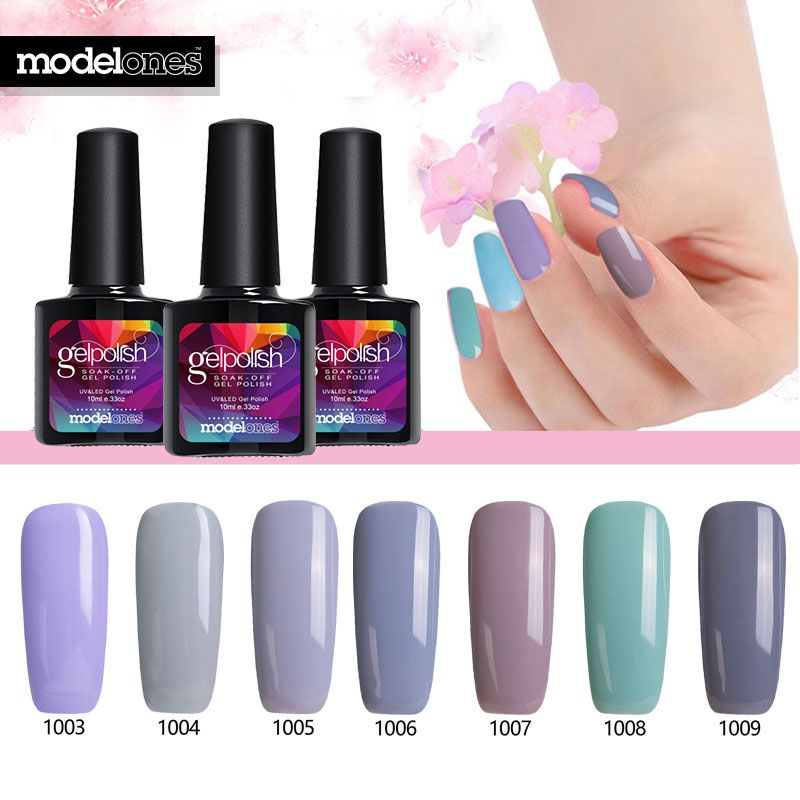 Modelones Nude Color UV Nail Gel Lacquer Nail Art French Salon UV ...