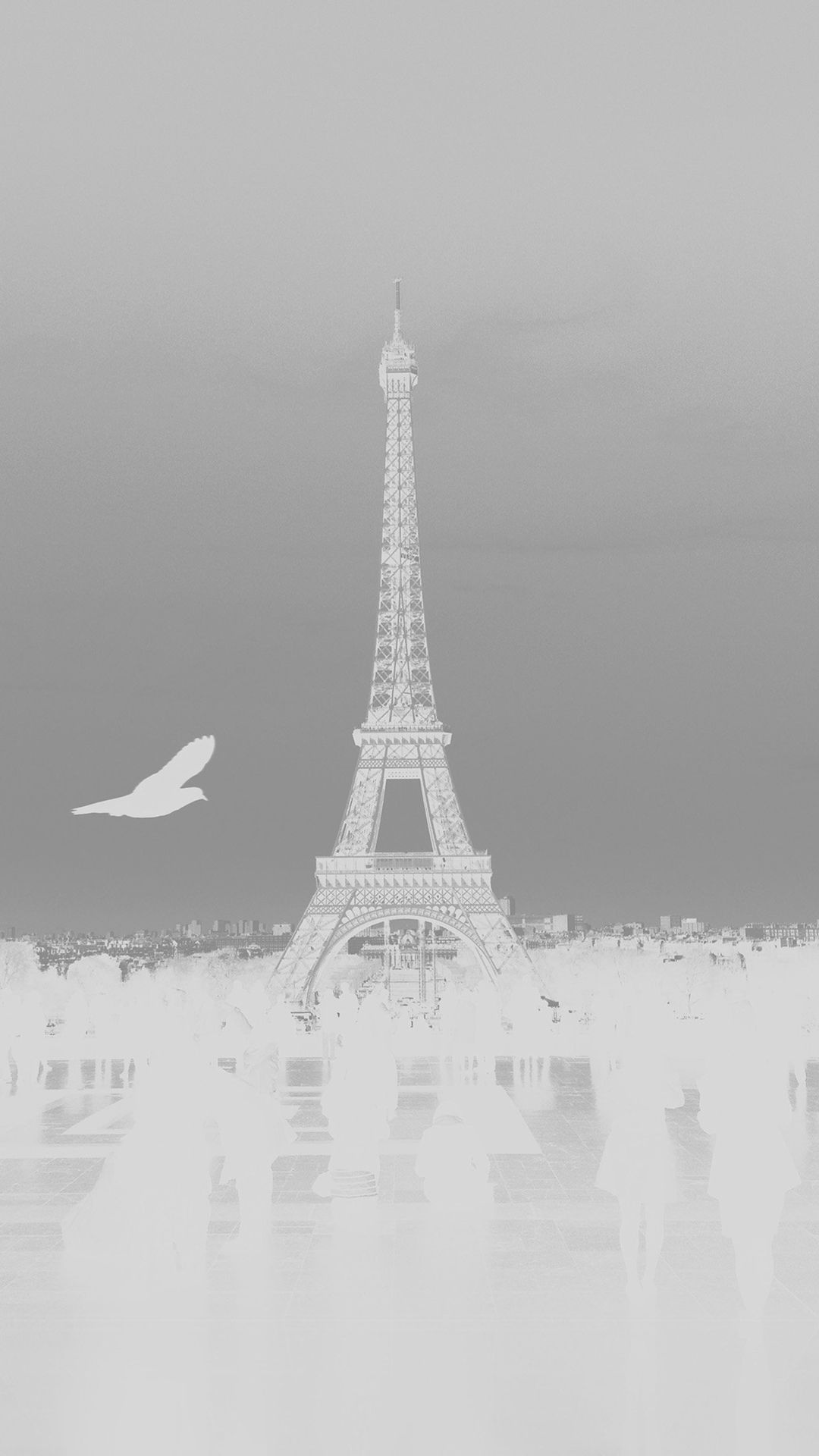 Paris Eiffel Tower Tour Dark Bird France White iPhone 6 plus