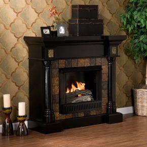Sei Carrington Slate Convertible Black Gel Fuel Fireplace Fa8752g Black Electric Fireplace Gel Fireplace Fireplace