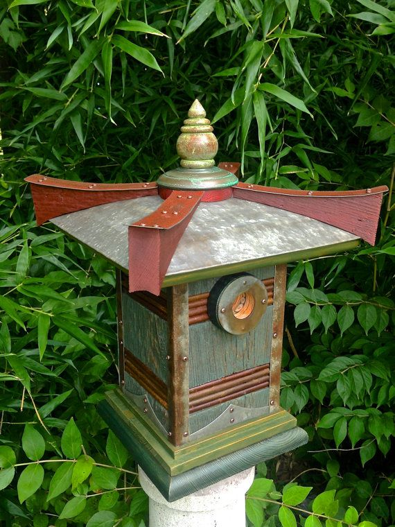 The Pagoda Japanese Style Birdhouse From Reclaimed Barn