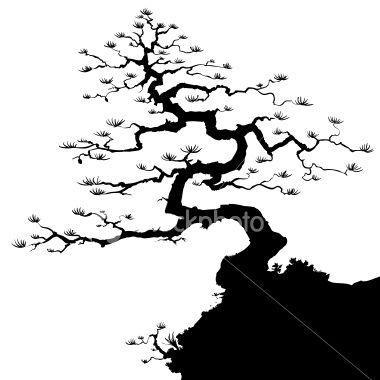 A Vector Silhouette Of A Bonsai Tree Suitable For Positioning Into Tree Silhouette Tattoo Tree Silhouette Tree Drawing