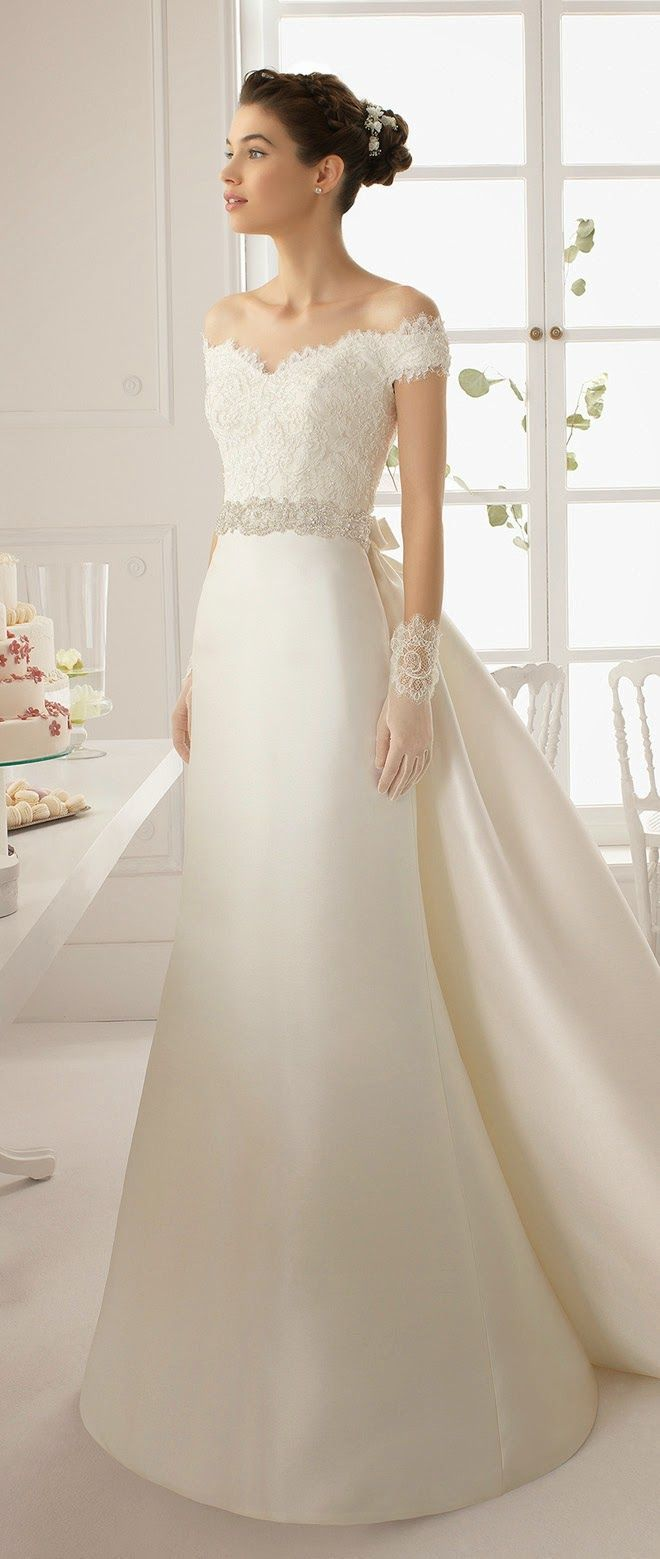 timeless wedding gowns from aire barcelona onewed