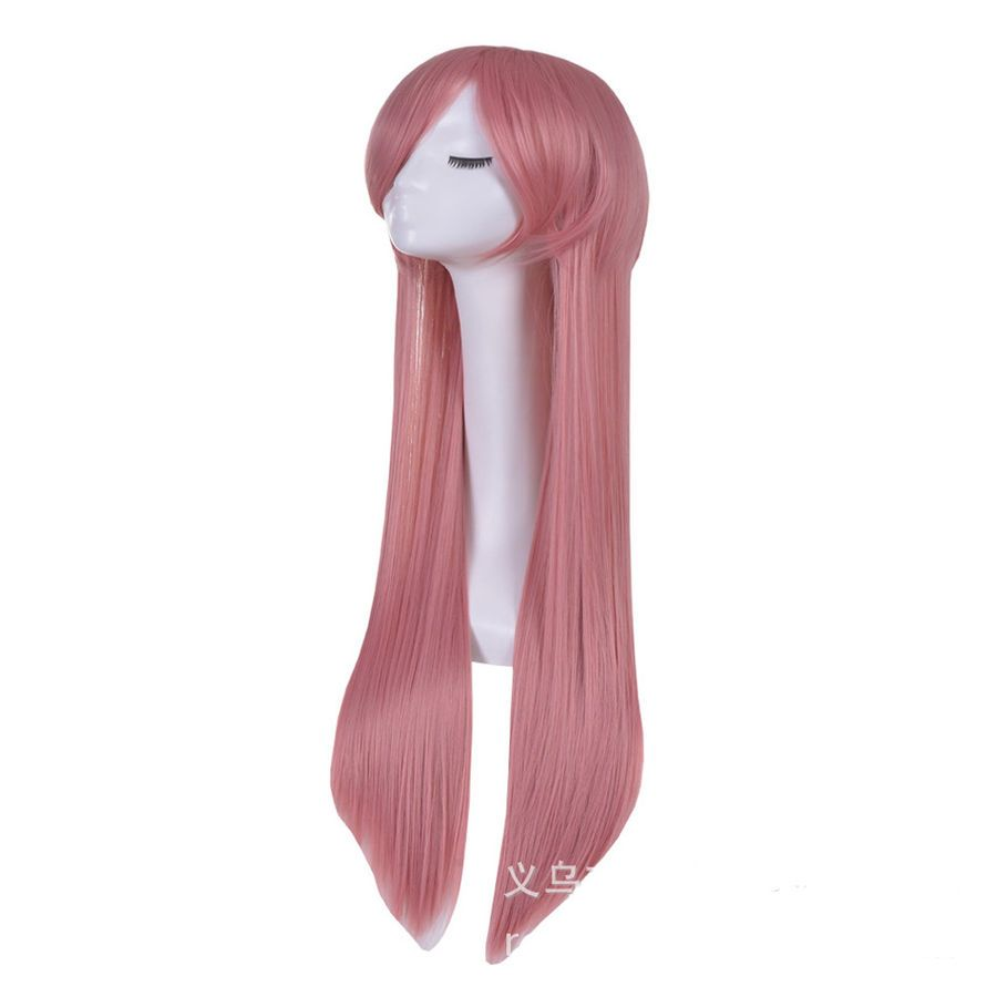 Lady fashion 70cm pink wigs cosplay costume anime party