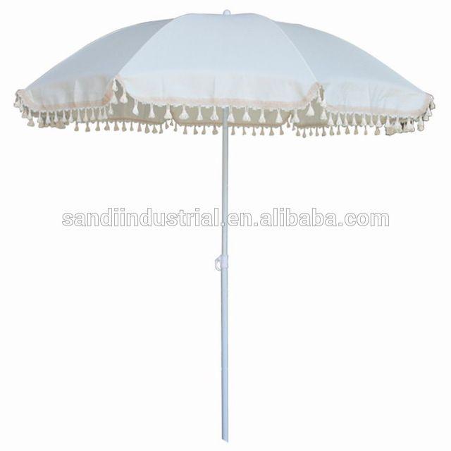 Source White Beach Umbrella With Fringe On M Alibaba Com Beach Umbrella Patio Umbrella Umbrella