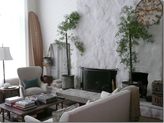 Lava Rock Fireplace