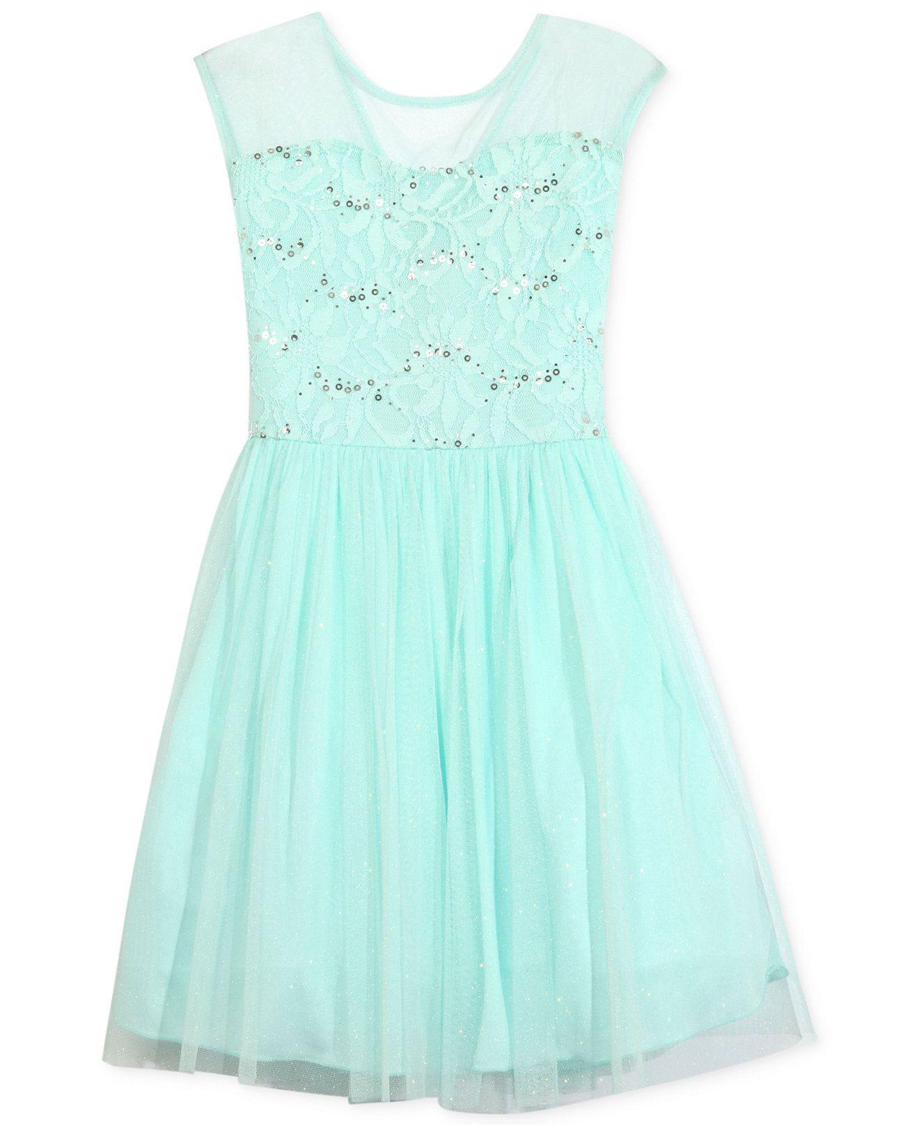 Speechless Girls Embellished Illusion Dress Kids Girls Dresses Macy&