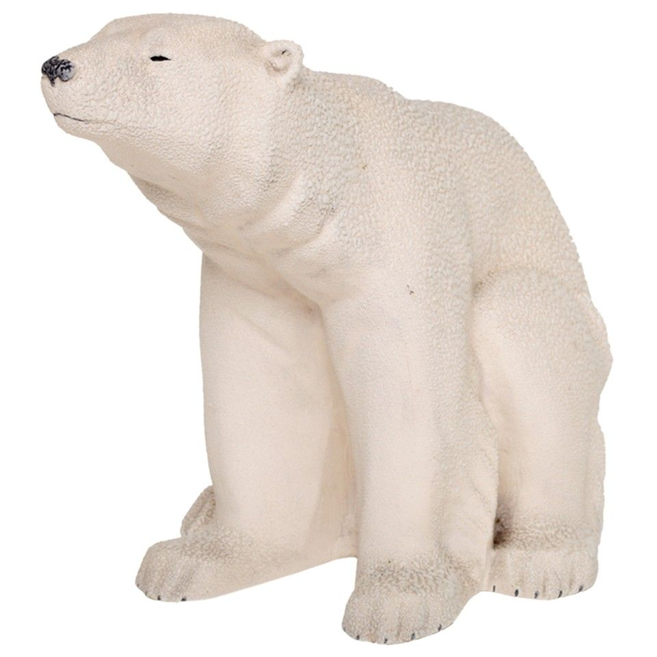 Large-Scale Sevres Earthenware Polar Bear