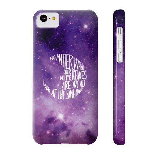 No Matter what our Differences are, We all Look at the Same Moon Quote Phone Case