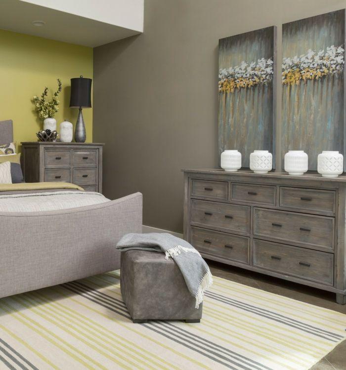 ▷ 1001 + Ideen für Schlafzimmer grau gestalten zum Entlehnen - schlafzimmer braun weiß