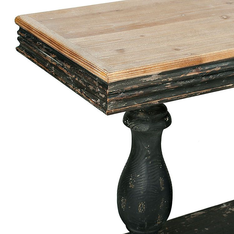 Distressed Black Double Pedestal Console Table Black Console Table Console Table Black Wood