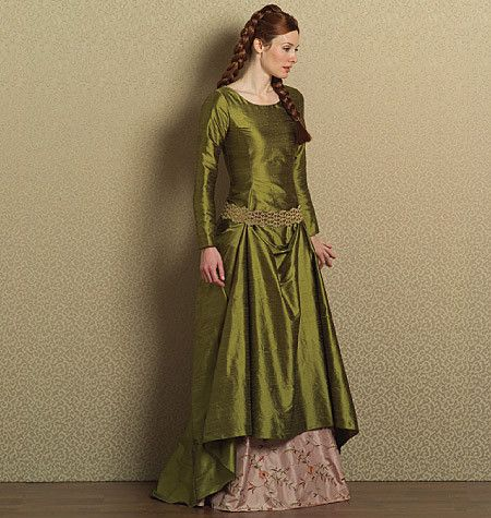 B4827 Misses\' Medieval Dress & Belt | costume design | Pinterest ...